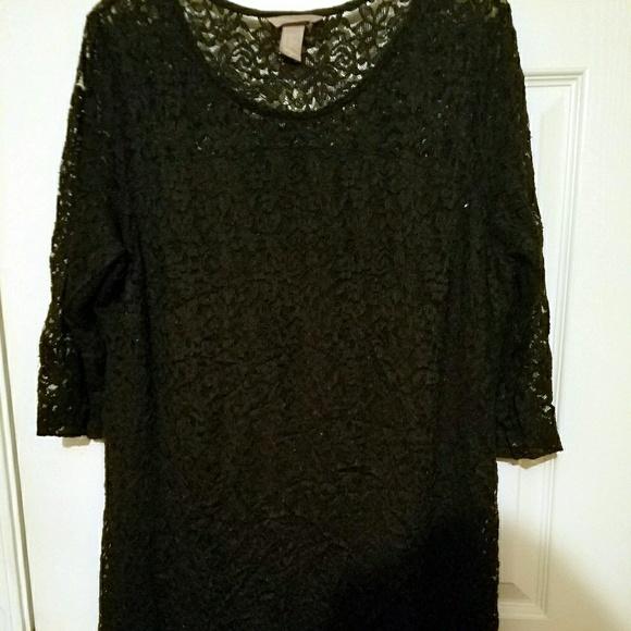 Hm Dresses Cute Plus Size Lace Black Dress Poshmark
